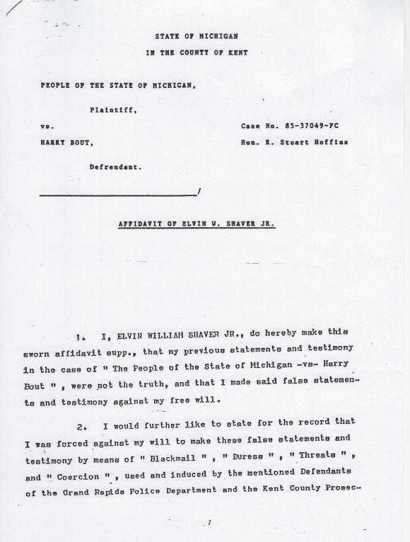Elvin Shaver Affidavit 30-dec-1986 page 1-7